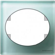Рамка одноместная Tacto (стекло лазурь)