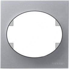 Рамка одноместная ABB Tacto (серебристая)