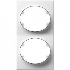 Рамка двухместная вертикальная ABB Tacto (белая)