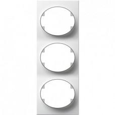 Рамка трехместная вертикальная ABB Tacto (белая)