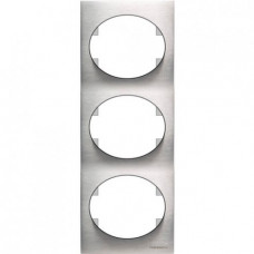 Рамка трехместная вертикальная ABB Tacto (сталь)