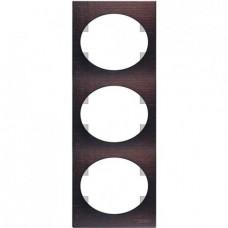 Рамка трехместная вертикальная ABB Tacto (венге)