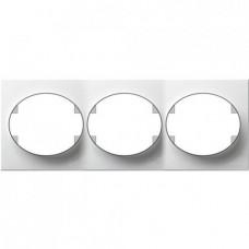 Рамка трехместная горизонтальная ABB Tacto (белая)