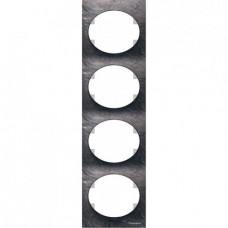 Рамка четырехместная вертикальная ABB Tacto (сланец)