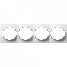 Рамка четырехместная горизонтальная ABB Tacto (белая)