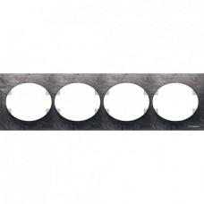 Рамка четырехместная горизонтальная ABB Tacto (сланец)