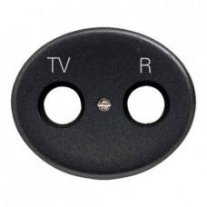 Розетка TV-R-SAT проходная Tacto (Антрацит)