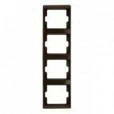 Рамка четверная, для вертикального монтажа