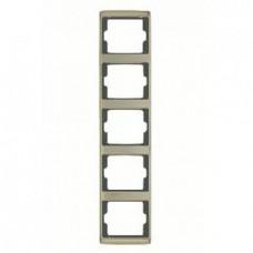 Рамка пятерная, для вертикального монтажа