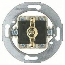 Поворотный выключатель/переключатель универсальный (вкл/выкл с одного-двух мест), материал ручки - латунь