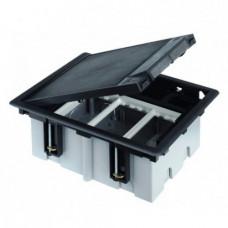 Лючок для наливного пола Simon Connect на 1 s-модуль (серый) c монтажной коробкой