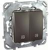 Выключатель управления жалюзи кнопочный, 10 А / 250 В~ Schneider Unica графит MGU5.207.12ZD